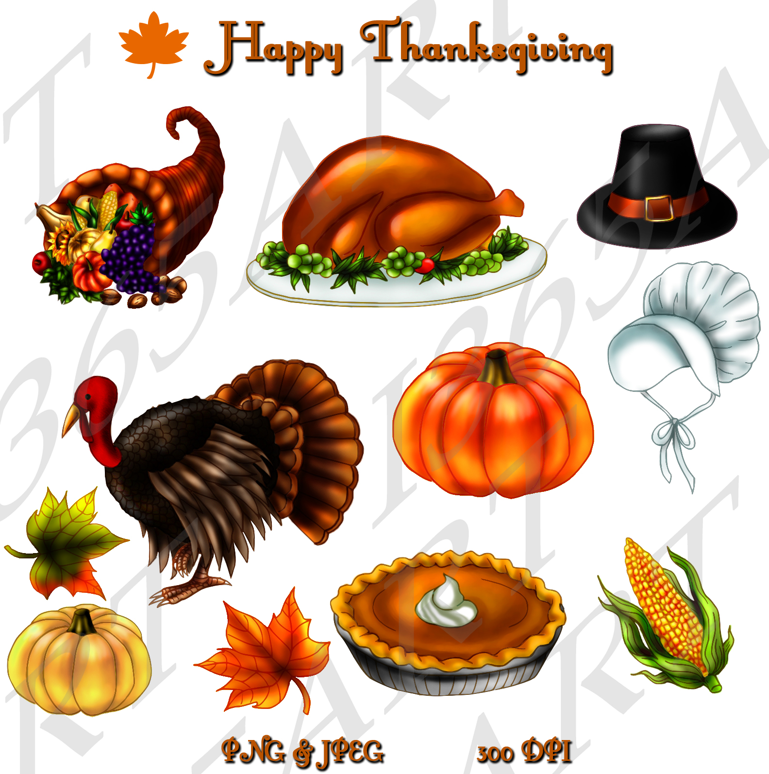 Thanksgiving Banner Page  282 Thanksgiving Clipart