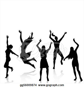 There Is 40 Women Dance Group Free Cliparts All Used For Free