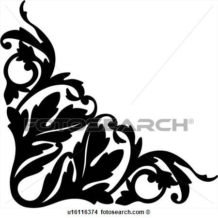 Corner Flourish Clipart - Clipart Suggest