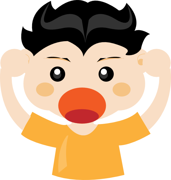 Boy Shouting Clip Art At Clker Com   Vector Clip Art Online Royalty