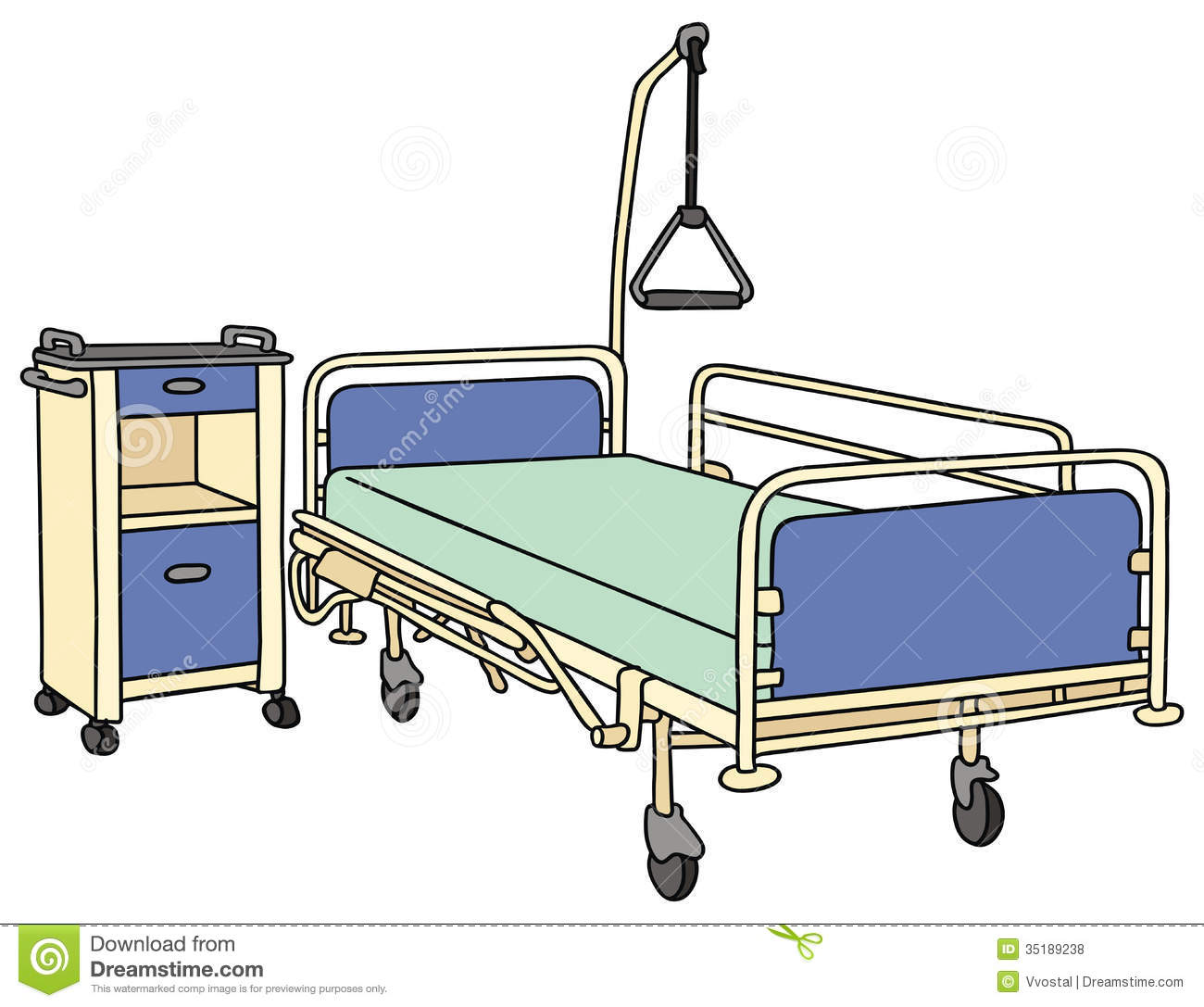 Cartoon Hospital Bed Clipart Clipart Suggest