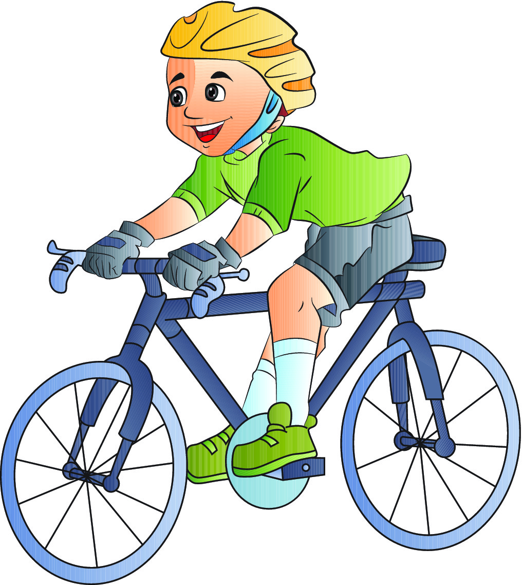 free clip art bike rider - photo #39