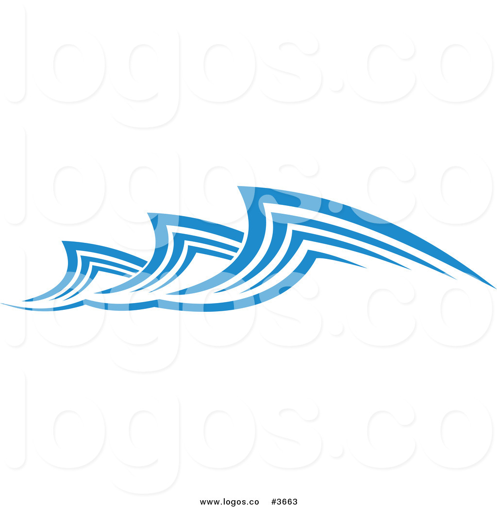 Royalty Free Clipart Illustration Of An Ocean Wave Design Logo  This