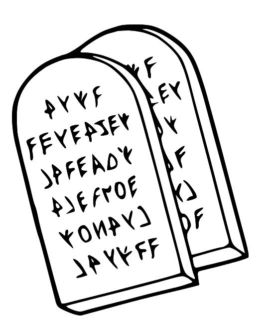 Stone Tablet Clip Art : Ten commandments tablets clipart suggest
