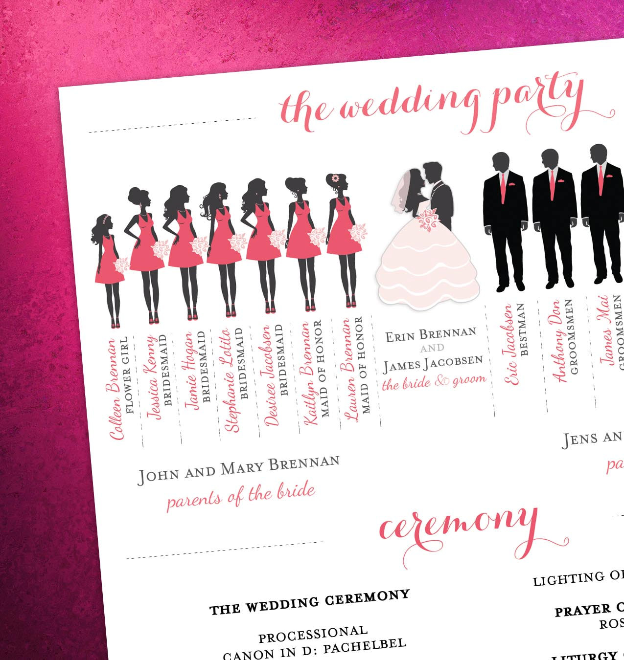 Bridesmaid Clipart Silhouette Illustration Wedding Party Silhouette