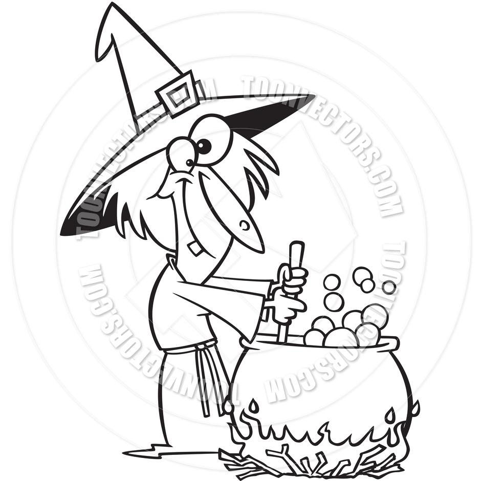 Cauldron Black And White Clipart - Clipart Suggest