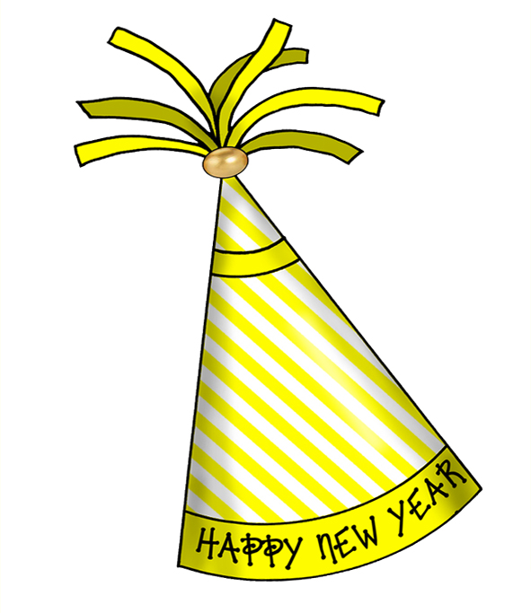 Crafts  Happy New Year Party Hats   Clipart Prints Decorating Festive