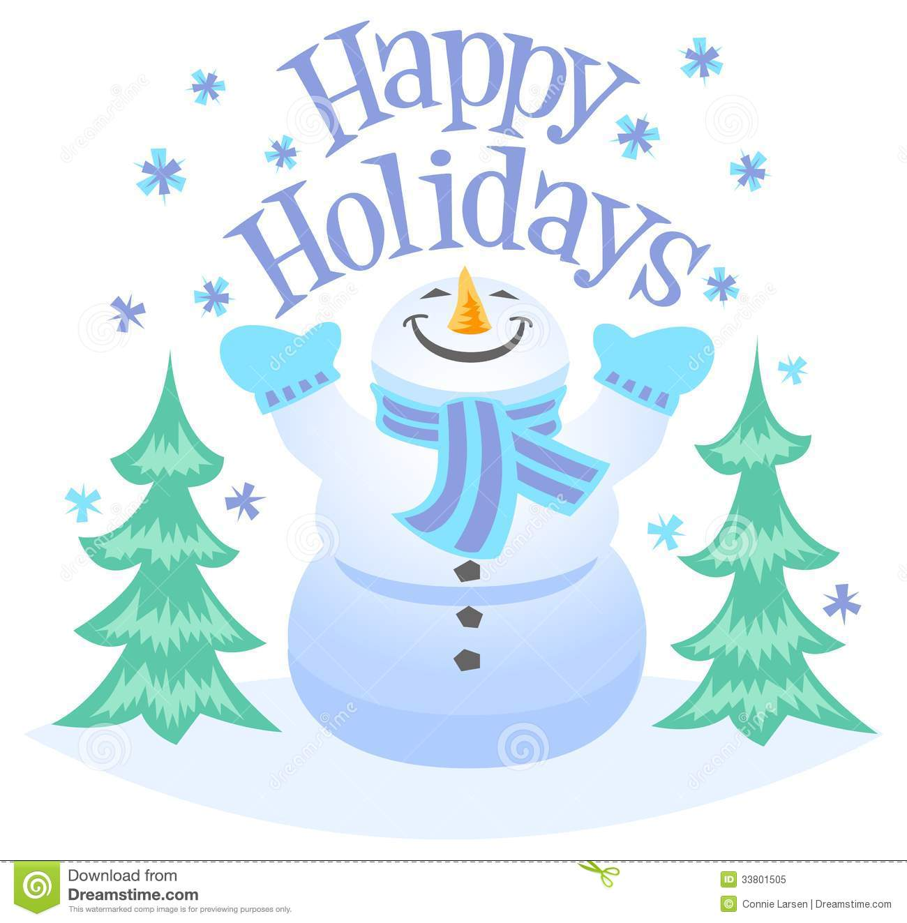 Happy Holidays Snowman Clipart Happy Holidays Snowman