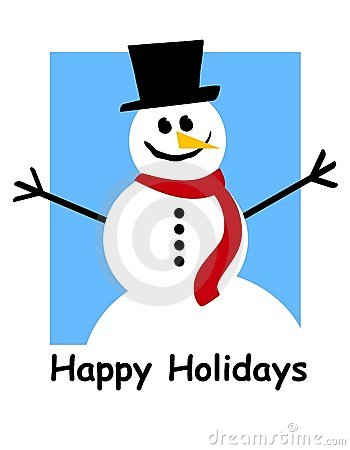 Happy Holidays Snowman Royalty Free Stock Photography   Image