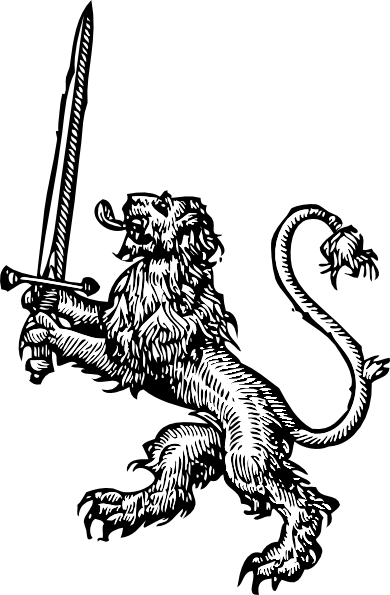 Lion With Sword Clip Art At Clker Com   Vector Clip Art Online