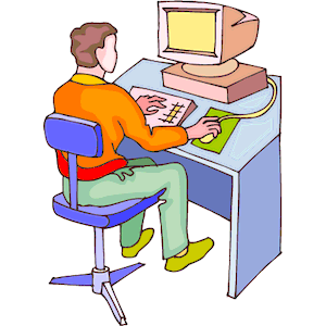 Man At Computer Clipart - Clipart Kid