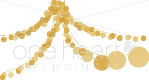Party Lights Clipart   Wedding Ceremony Clipart