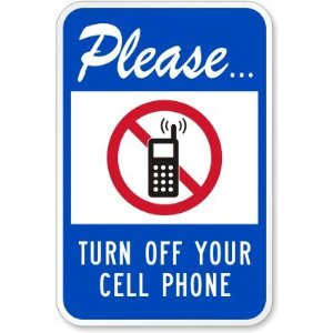 Please Turn Off Your Cell Phone  With No Cell Phone Pictogram