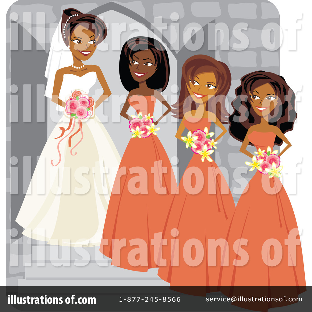 Royalty Free  Rf  Wedding Party Clipart Illustration By Amanda Kate