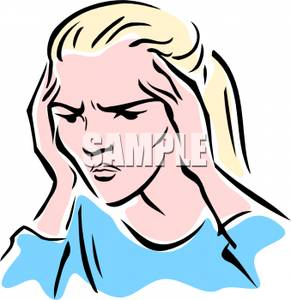 Stressed Out Student Clipart A Woman Looking Stressed