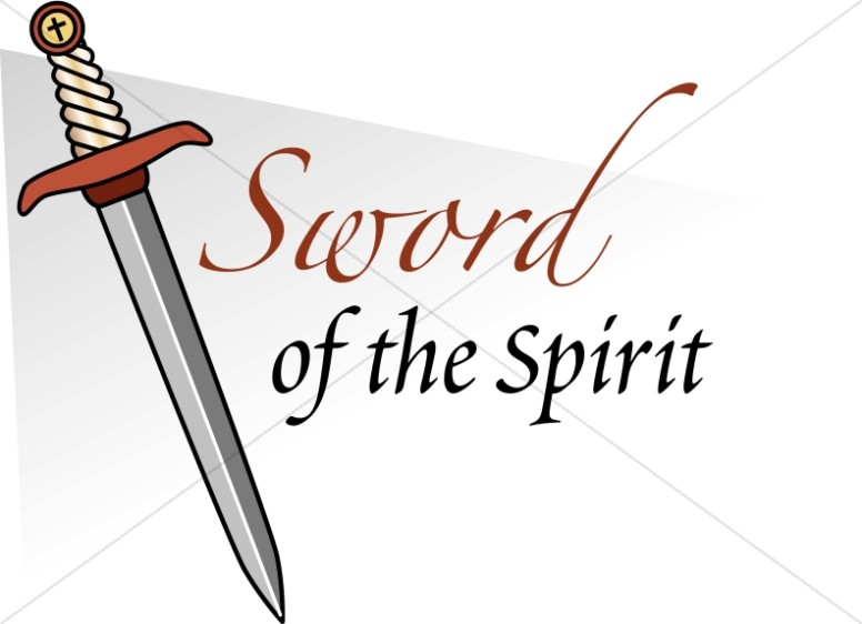 Sword Of The Spirit   Spiritual Battle Word Art