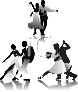 Tango Dancers Collection   Royalty Free Clipart Picture