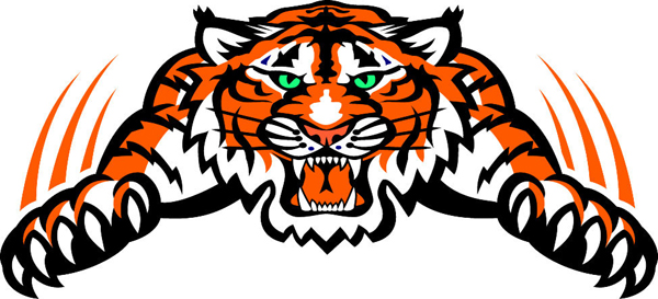 Tiger Mascot Clipart Tiger Mascot Vinyl Sports Decal Make It Yours