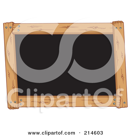Wooden Frame Around A Black Board