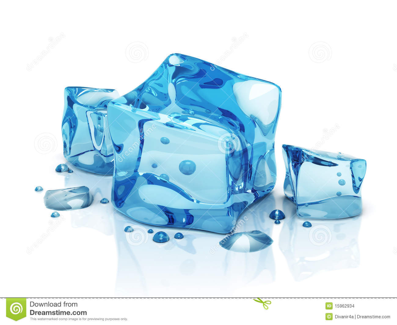3d Water Ice Cubes Stock Images   Image  15962934