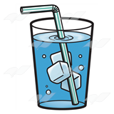 Beka Book    Clip Art    Glass Of Ice Water With A Straw