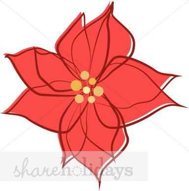 Clip Art Of Christmas Poinsettia Basket Clipart   Cliparthut   Free