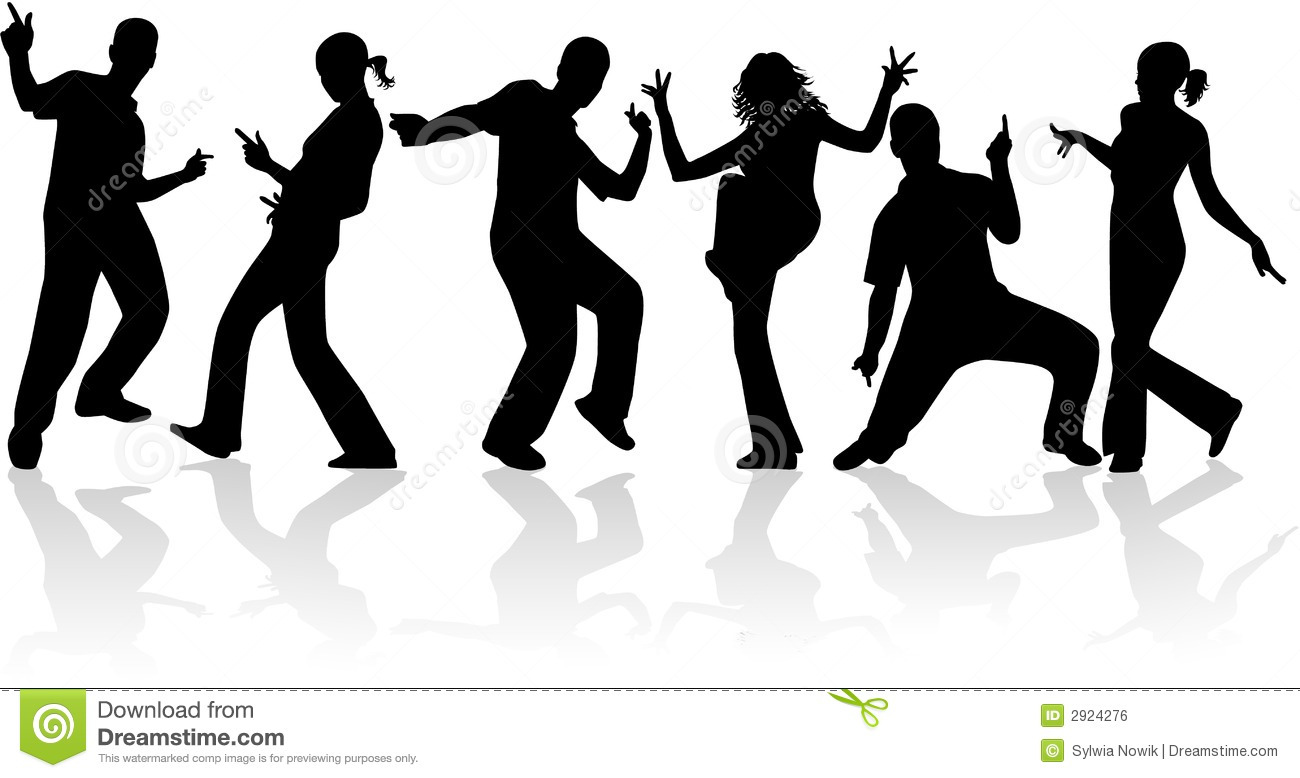 Outline Of People Dancing Clipart - Clipart Kid