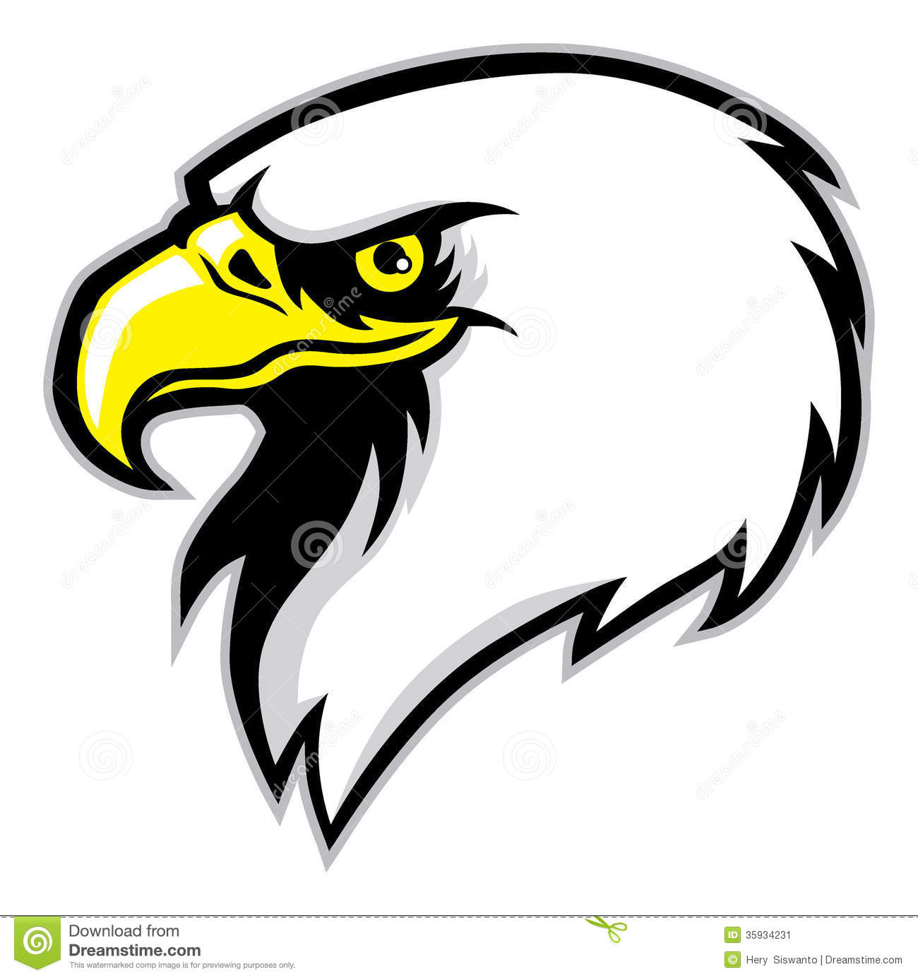 Eagle Head Mascot Stock Image   Image  35934231