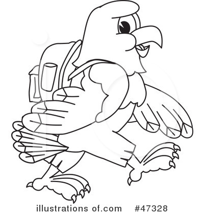 Eagle Mascot Clipart  47328 By Toons4biz   Royalty Free  Rf  Stock