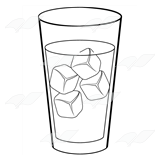 Glass Of Ice Water Clip Art Water Glass