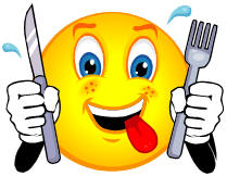 Hungry Smiley Face Clip Art