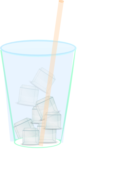 Ice Water With Straw Clip Art At Clker Com   Vector Clip Art Online