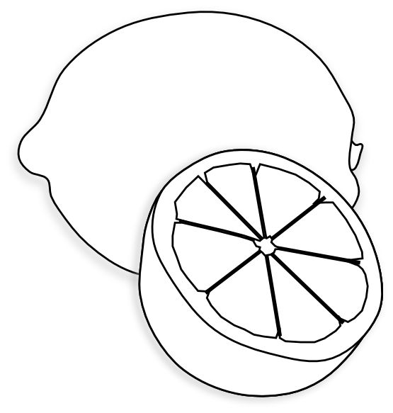 Clip Art Lemon Clipart black and white lemon clipart kid clip art white