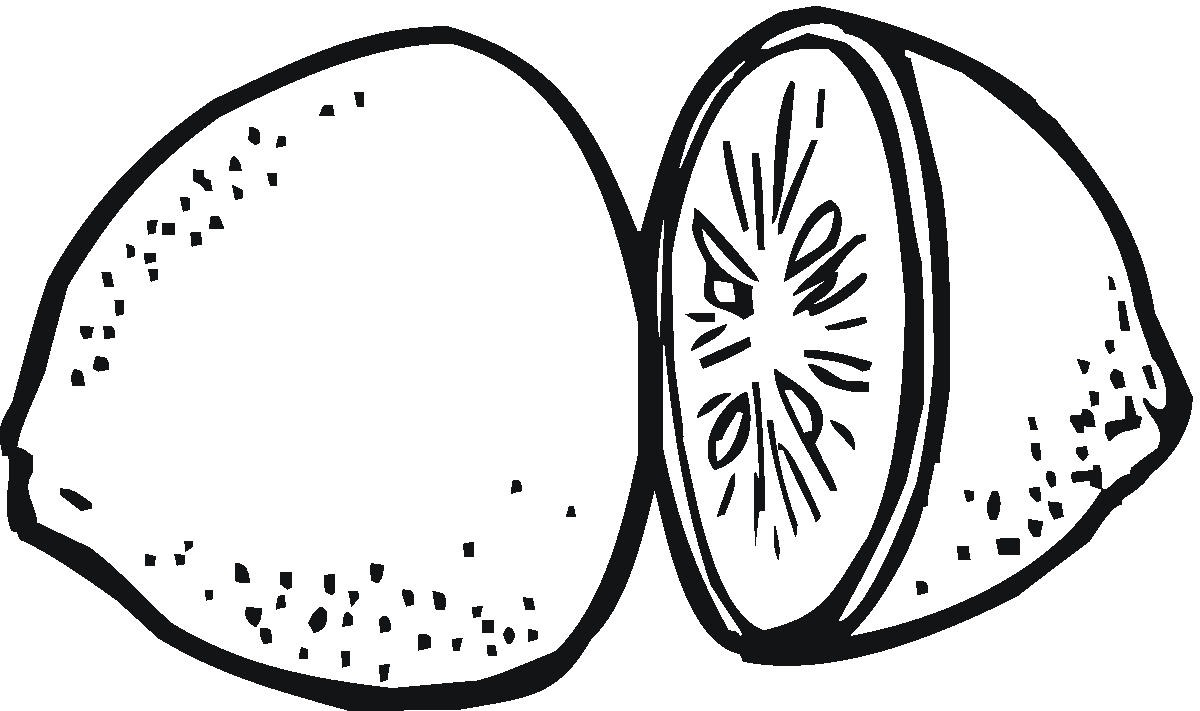 Lemon Slice Clipart Black And White Lemon Slice Cl
