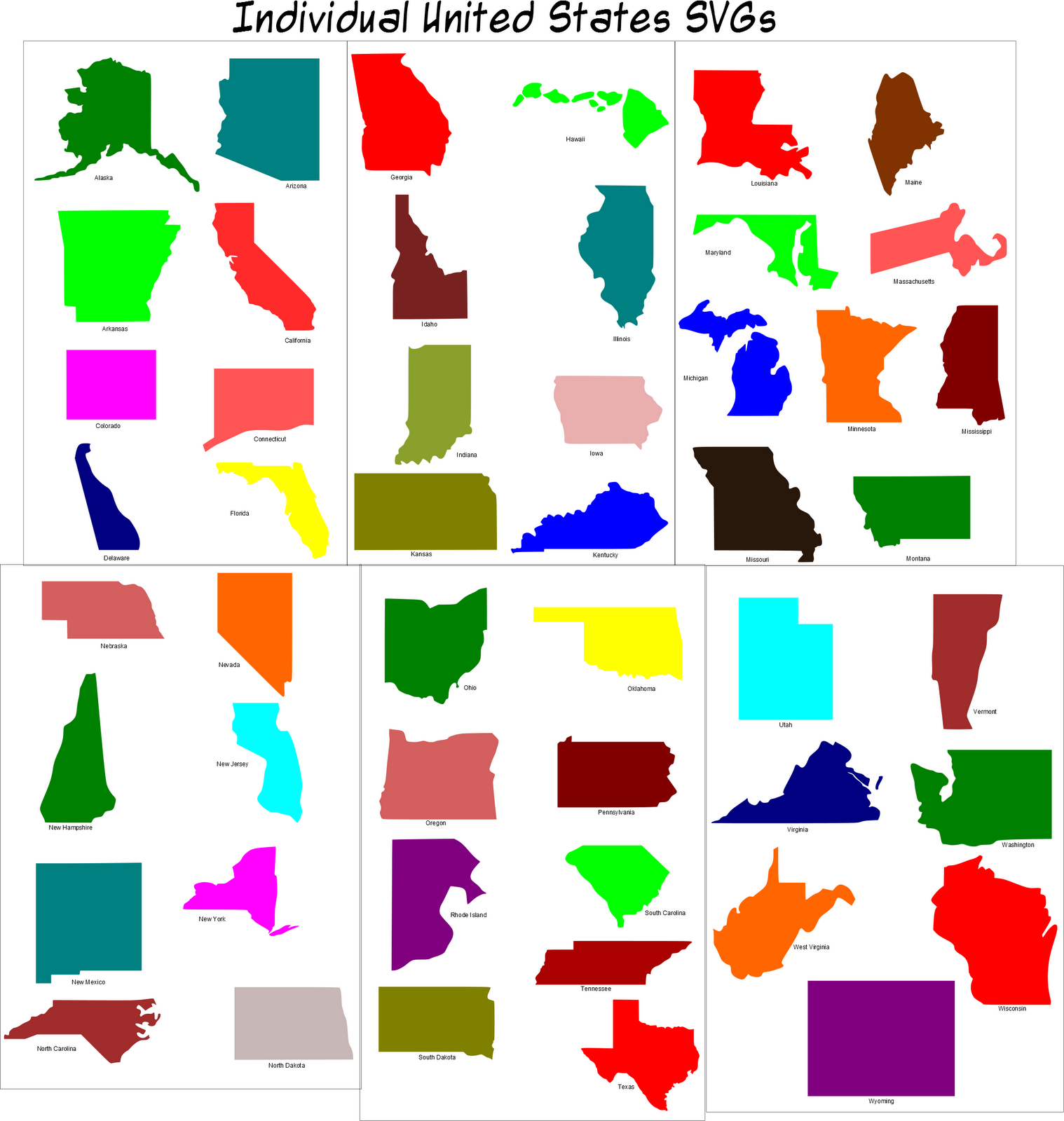 Maps Of Individual States Diagrams Free Printable Images World Maps - Us individual state maps