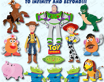 Toy Story Digital Clipart Woody Jessie Buzz Lightyear Mr Potato ...