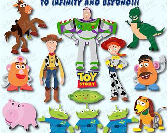 Toy Story Digital Clipart Woody Jessie Buzz Lightyear Mr Potato ...