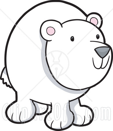 Polar Bear Winter Clipart - Clipart Kid