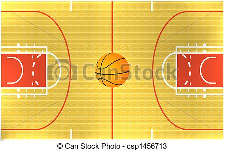 Arena   Illustration Of A Basketball Arena Csp1456713   Search Clipart
