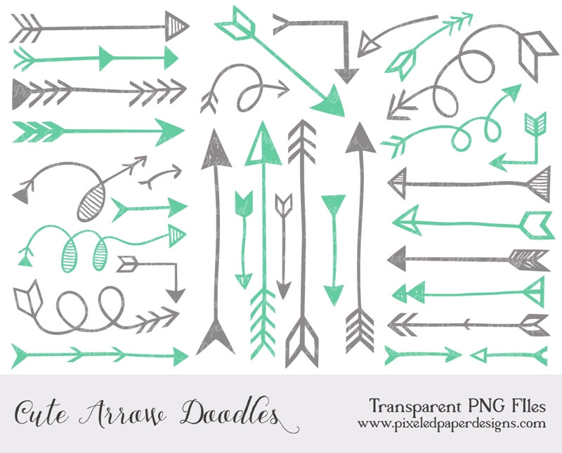 Arrow Clip Art  Arrow Digital Clipart By Pixeledpaperdesigns