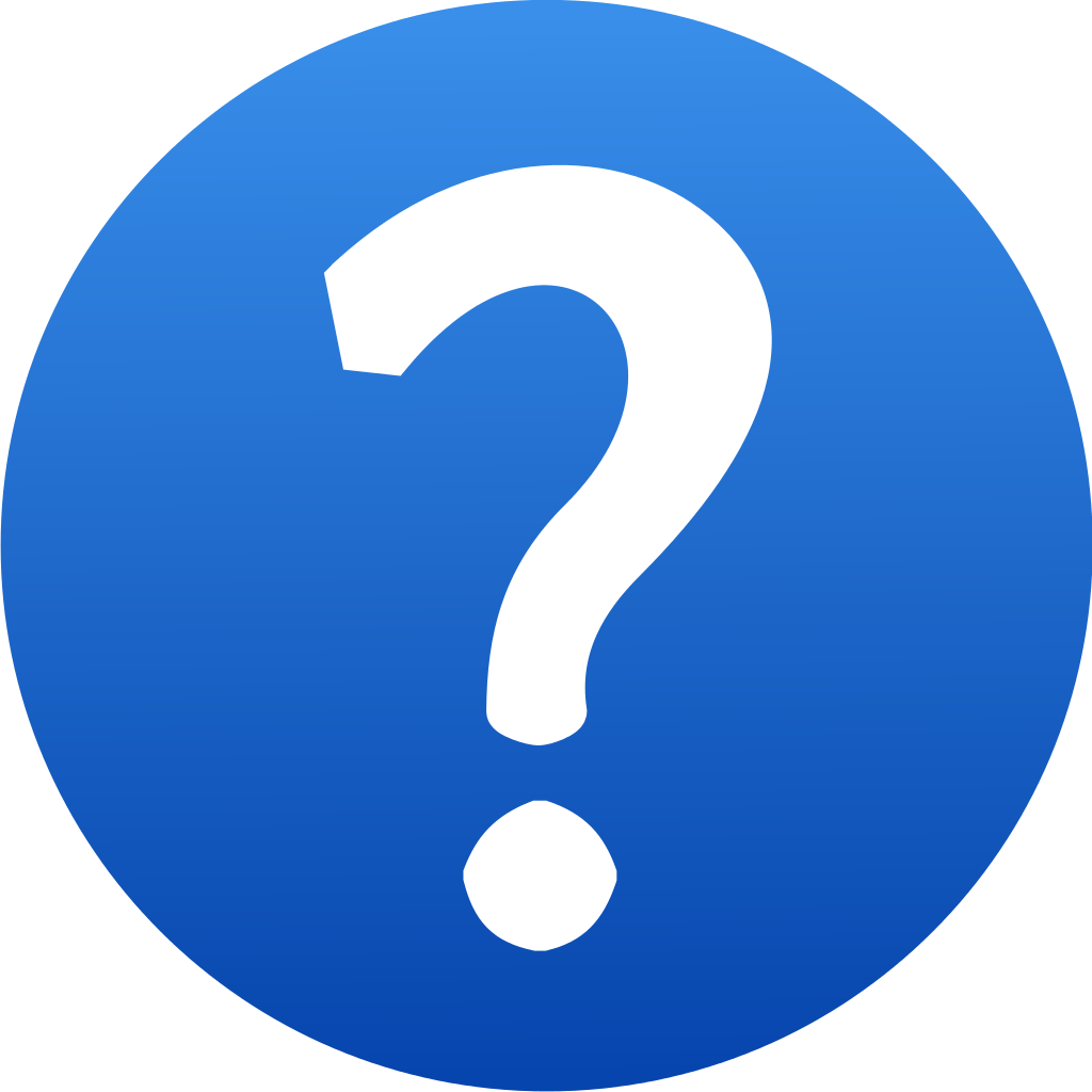 Blue Question Mark Icon 1024px Blue Question Mark Icon Svg Png