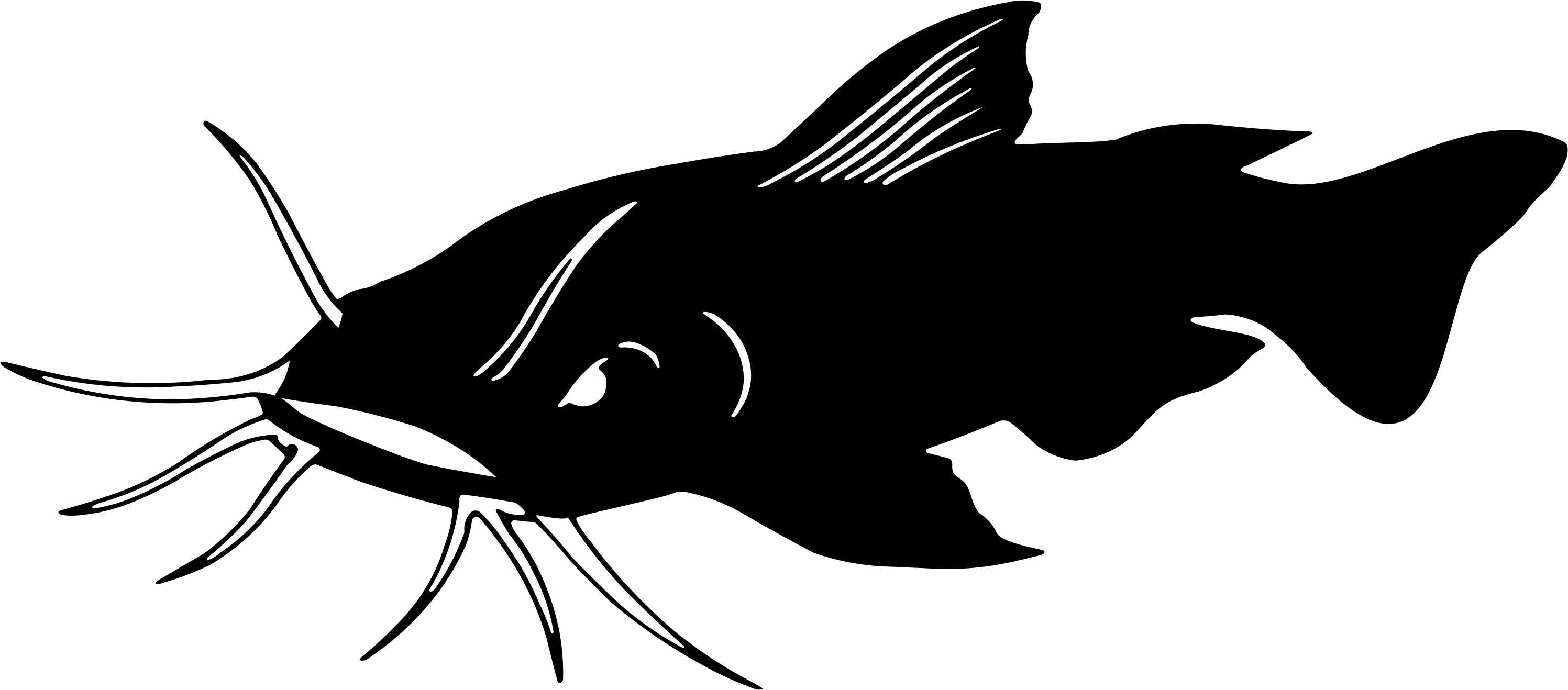 Fish Silhouette Navy Blue Clipart - Clipart Kid