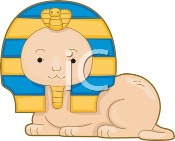 Egyptian Sphinx Cartoon   Royalty Free Clipart Picture