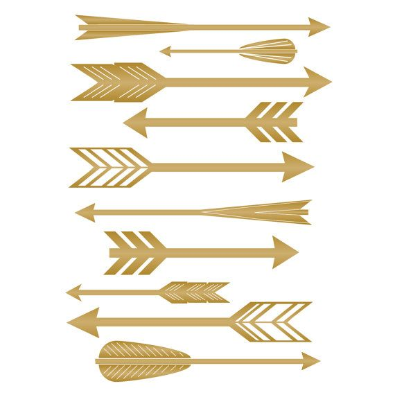 Feather Arrow Pattern With Various Mid Century Style Arrows   Wall De