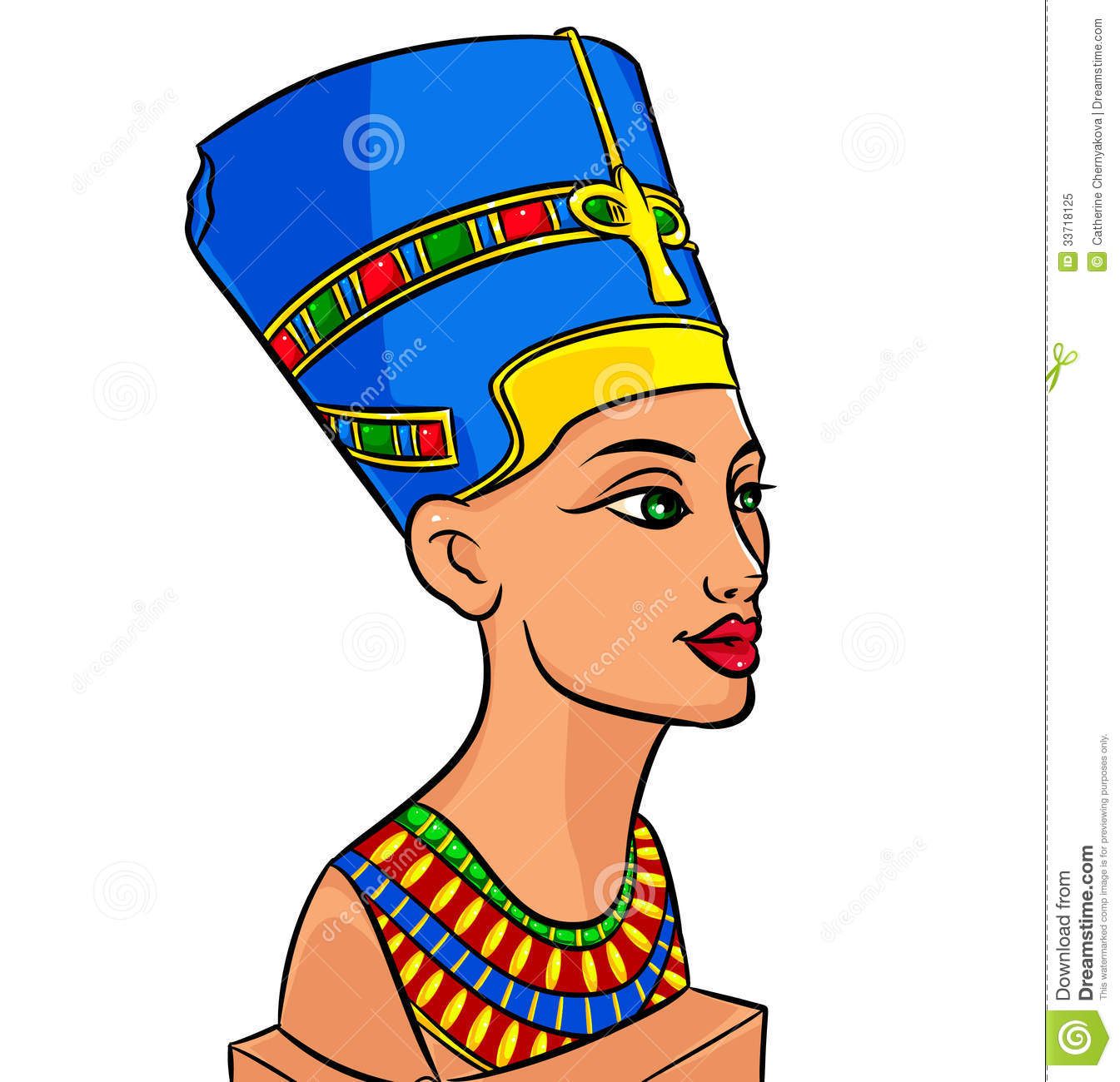 Free Stock Photo  Queen Of Egypt Nefertiti Cartoon  Image  33718125