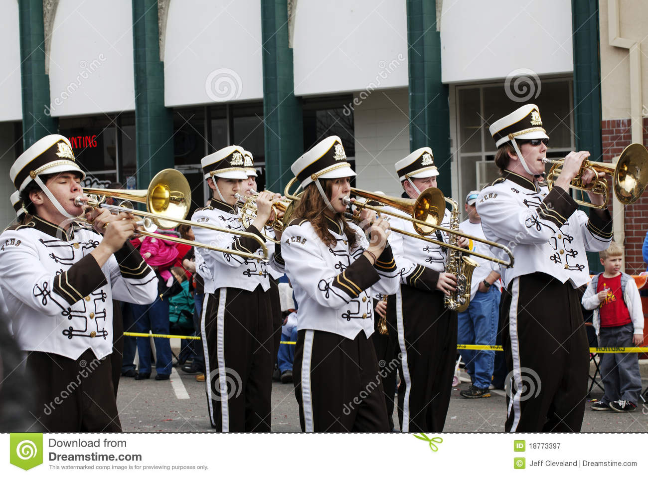 High School Marching Band Players Editorial Photography   Image