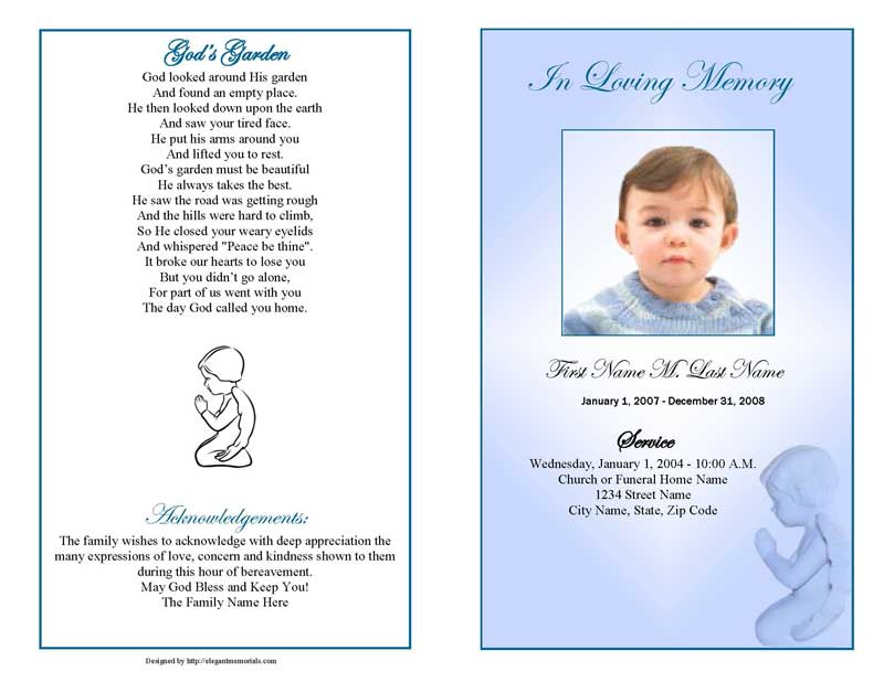 Angel For Funeral Program Clipart Clipart Kid – Funeral Pamphlet Template Free