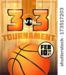 Vector A Basketball Tournament Flyer Or Poster Perfect For Basketball