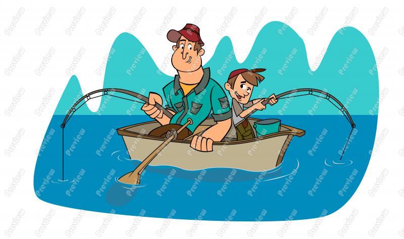 рисунки детей про рыбалку