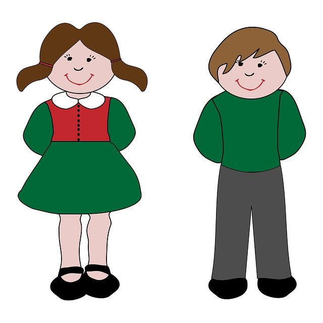 Children Kids Child Girl Boy Clip Art Cartoon   Public Domain